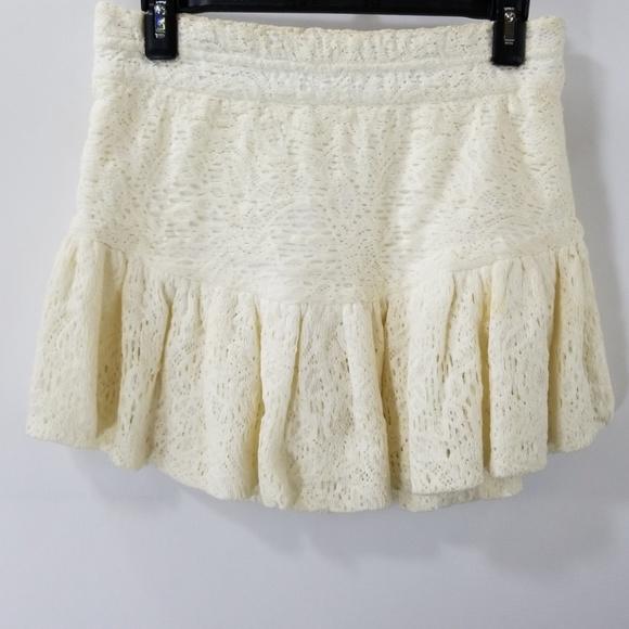 3aaf415cb IRO Dresses & Skirts - Iro Off White Lace Ruffled Mini Skirt Size 38